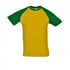 SOL'S FUNKY T-SHIRT ΑΝΤΡΙΚΟ GREEN-YELLOW - 11190